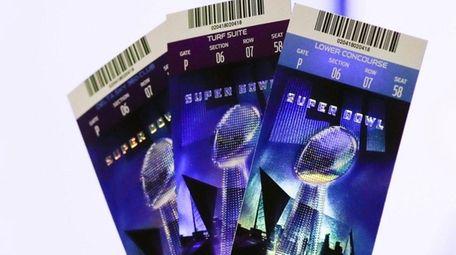 Super Bowl 52 tickets on Thursday, Feb. 1,
