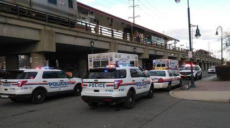 Nassau County police on the scene where a