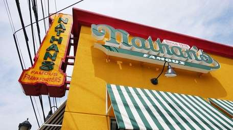 The Nathan's Famous location in Oceanside is shown