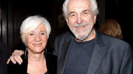 Louis Zorich with his wife, Olympia Dukakis, at