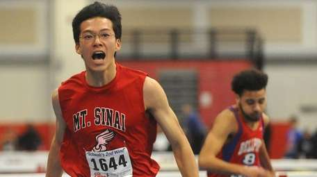 Kenneth Wei of Mount Sinai reacts after winning