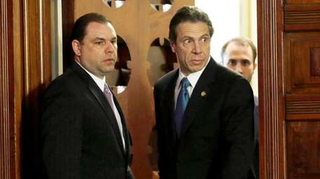 Gov. Andrew M. Cuomo, right, and Joseph Percoco,