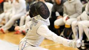 Jericho's Erica Hooshi competes during the Nassau fencing