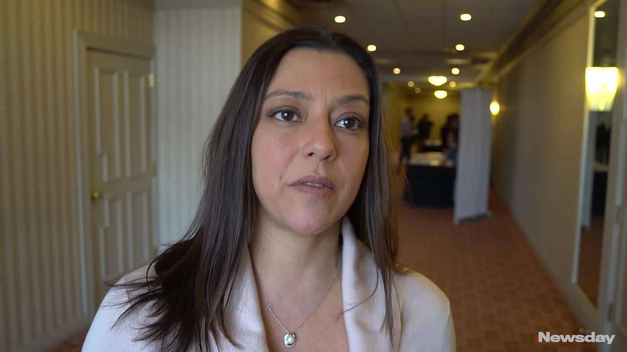 Suffolk County Legis. Monica Martinez (D-Brentwood) and the