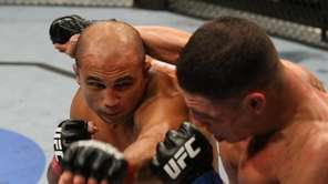 Lightweight champion BJ Penn dominated Diego Sanchez the