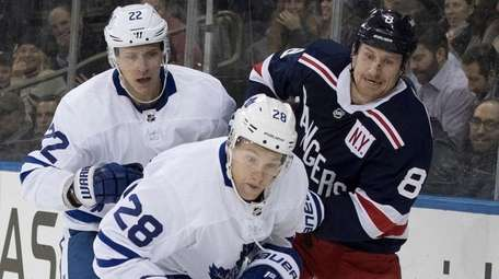 Maple Leafs right wing Connor Brown and defenseman