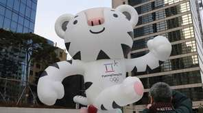 Soohorang, a white tiger, is the official mascot
