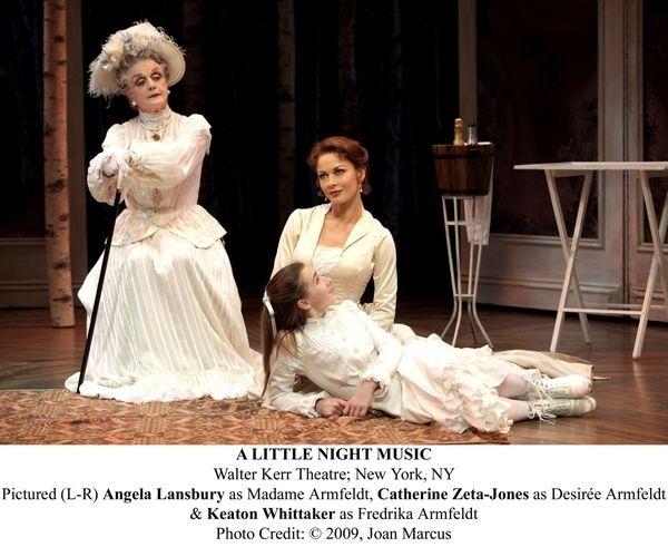Angela Lansbury, left, as Madame Armfeldt, Catherine Zeta-Jones