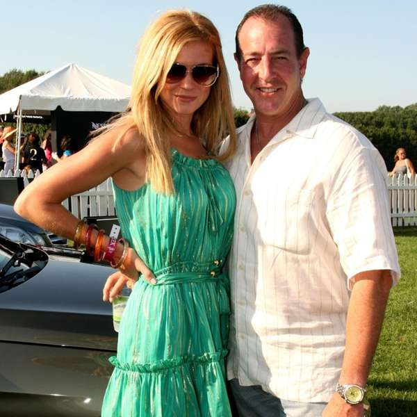 Erin Muller and Michael Lohan at the Mercedes