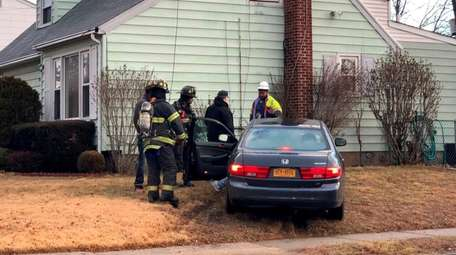 A car hit a house in Uniondale on