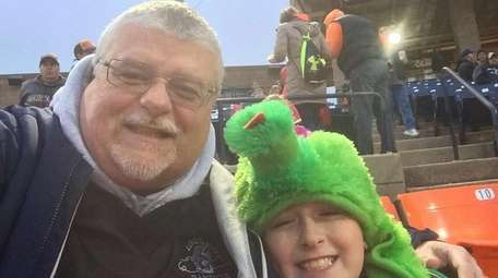 Kidsday reporter James Haupt and his dad at