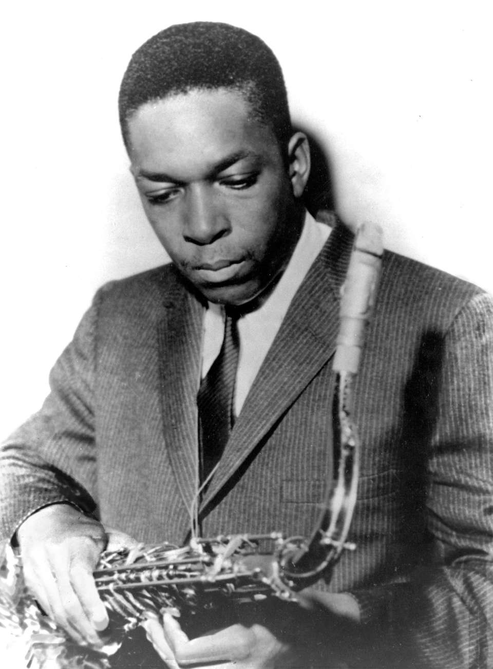 Jazz saxophonist John Coltrane, pictured in this undated