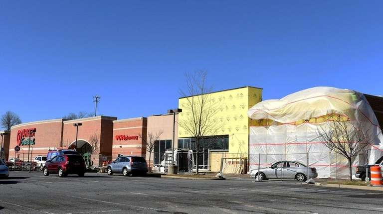 The future site of HomeSense is seen Monday,