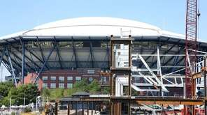 The new Louis Armstrong Stadium under construction with