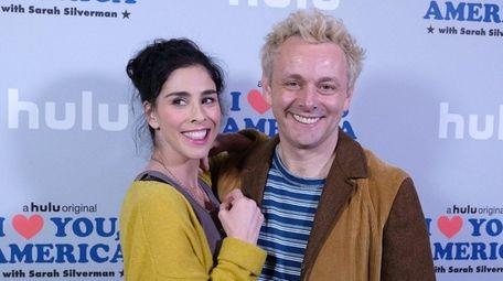 Sarah Silverman and Michael Sheen attend a Hulu