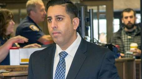 Rockville Centre Police Officer Anthony Federico is on
