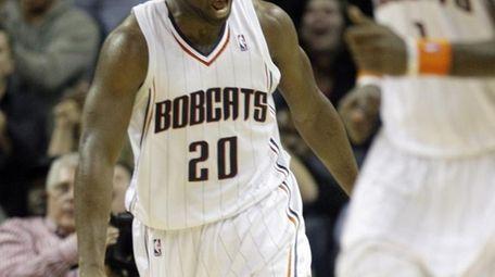 FILE - Charlotte Bobcats' Raymond Felton (20) reacts