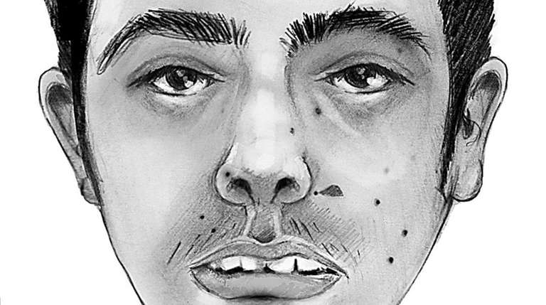 An artist's rendering of a man found shot