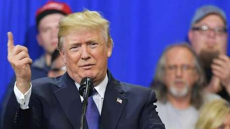 President Donald Trump speaks at Sheffer Corp. in