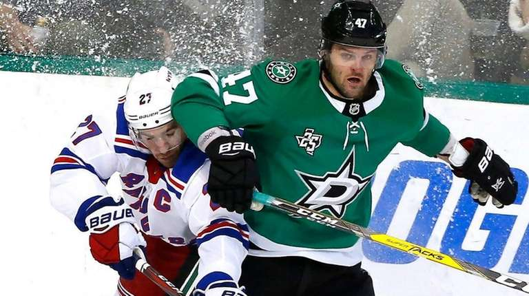 Rangers defenseman Ryan McDonagh and Stars right wing