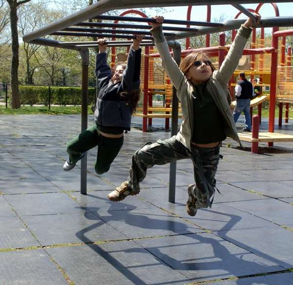 Kids at play in Eisenhower Park in East