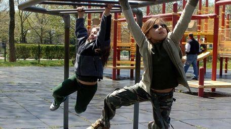 Kids at play in Eisenhower Park in East