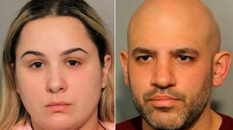 Dawn Goldstein, 29, of Elmont, and Richard Alvarez,