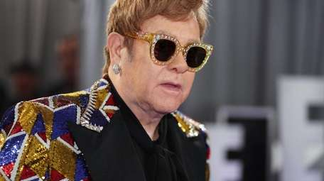 Elton John attends the 60th Annual Grammy Awards