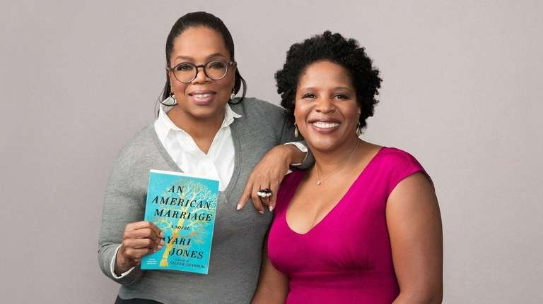 Oprah Winfrey, left, with Tayari Jones, author of