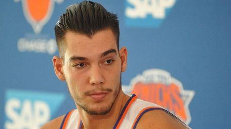 The Knicks traded Willy Hernangomez, who was upset
