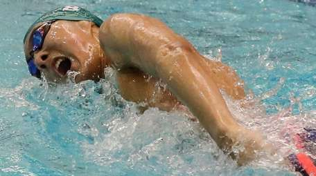 Andy Lee of Great Neck South competes during