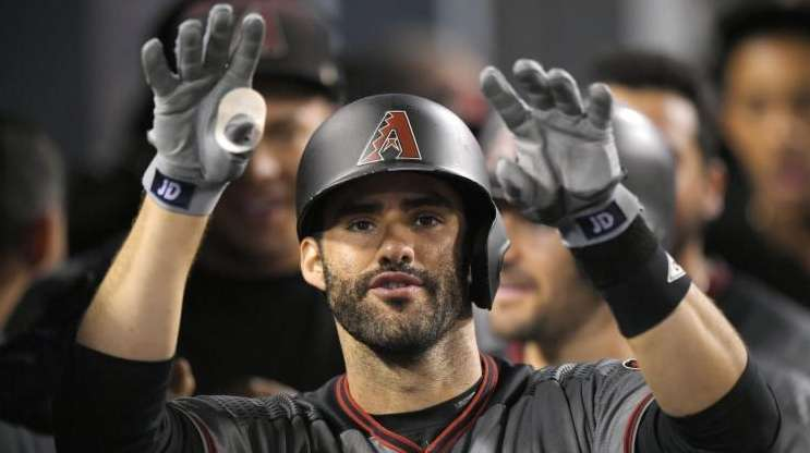 Arizona Diamondbacks' J.D. Martinez after hitting his fourth