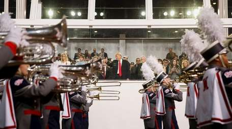 President Donald Trump loves a parade. Here, he
