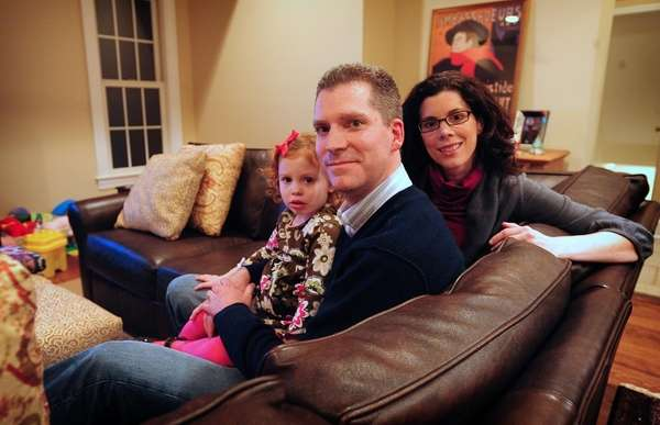 Alex Magness in his Rockville Centre home with