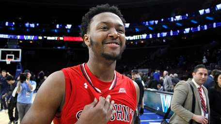 St. John's guard Shamorie Ponds reacts after his