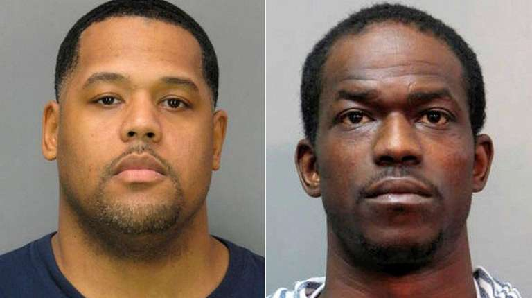 Justice Brunson, 39, left, of Brooklyn, and Darkel