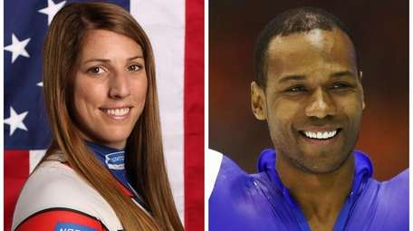 This combination of images shows United States' athletes