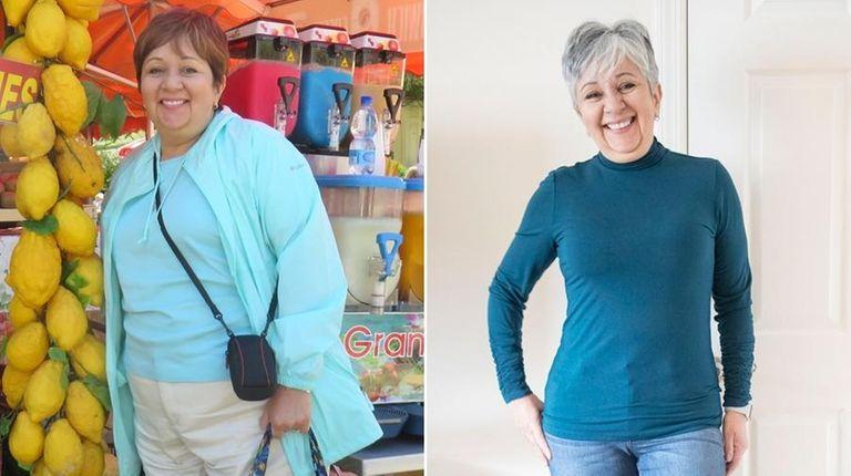 Sharon Schamberry, 64, of Valley Stream, left, in
