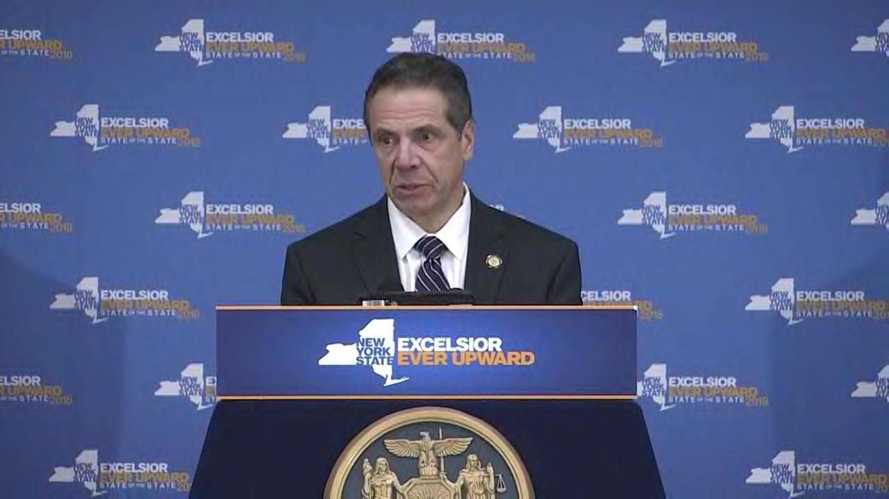 Gov. Andrew M. Cuomo on Thursday, Feb. 8,