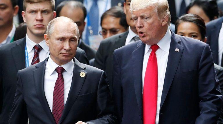 Russian President Vladimir Putin and President Donald Trump