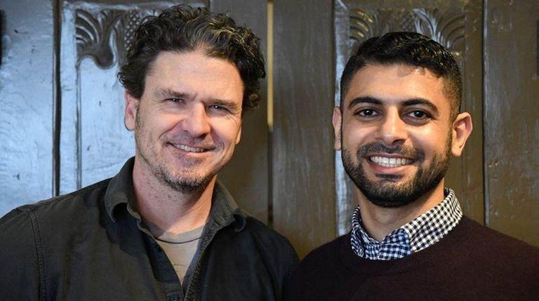 Writer Dave Eggers, left, and Mokhtar Alkanshali, who