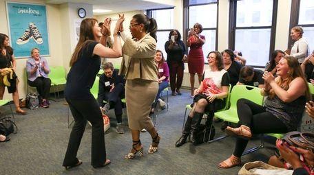 Weight Watchers investor Oprah Winfrey attends a Weight