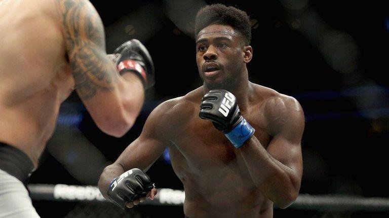 Aljamain Sterling, right, faces Raphael Assuncao at UFC