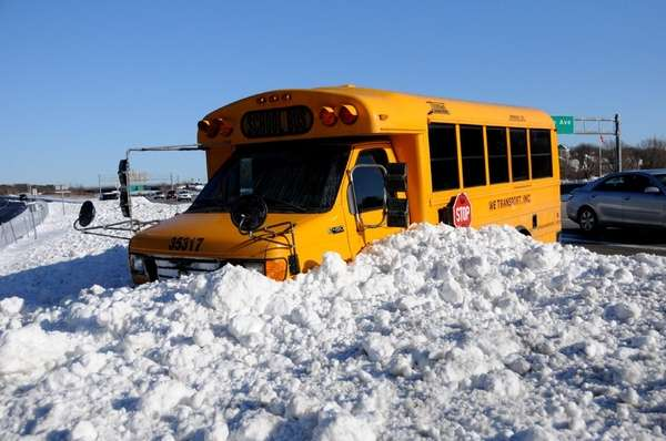 A school bus went out of control on