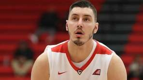 Stony Brook forward Jakub Petras, shown during game
