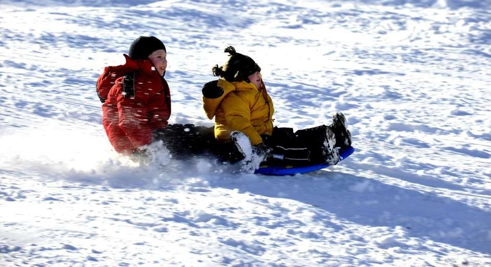 After golf, sledding is probably the most popular