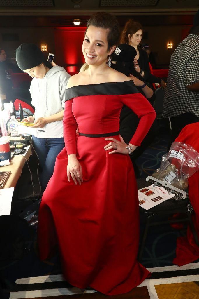 Recording artist Lea Salonga prepares backstage.