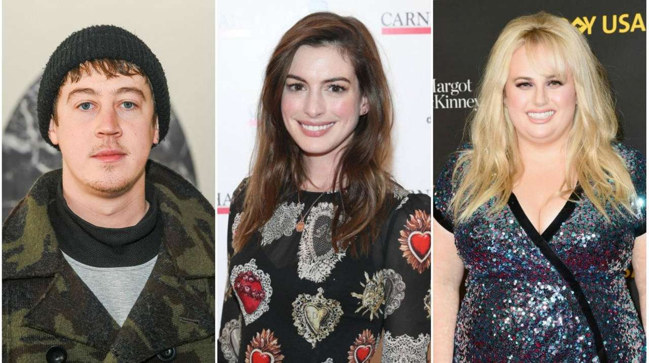 Alex Sharp, Anne Hathaway and Rebel Wilson star