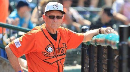 Long Island Ducks Coach Bud Harrelson in the
