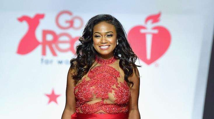Actress Tatyana Ali walks the American Heart Association's